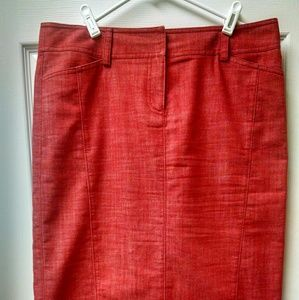 J. Crew size 10 Red pencil skirt belt loops